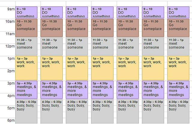 calendar busy